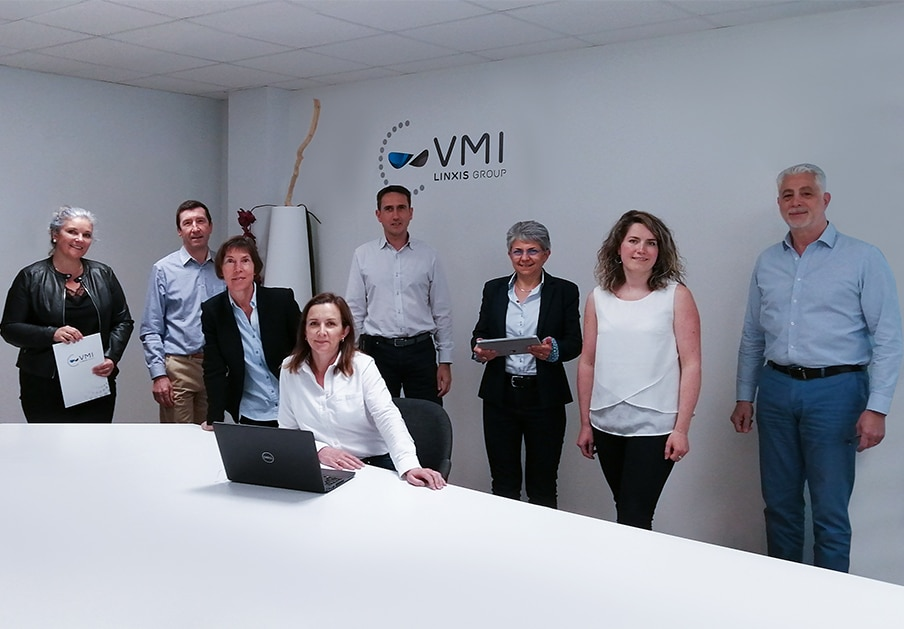 Equipe commerciale VMI pour l'activité Santé & Chimie des spécialités