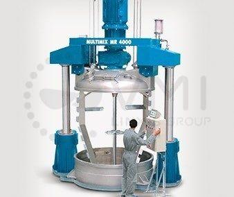 Mélangeur industriel relevable Multimix production industrielle