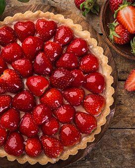 Tarte aux fraises crème patissière